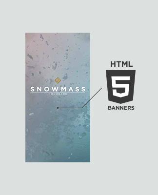 HTML5 animated display ad banner development, Denver, CO